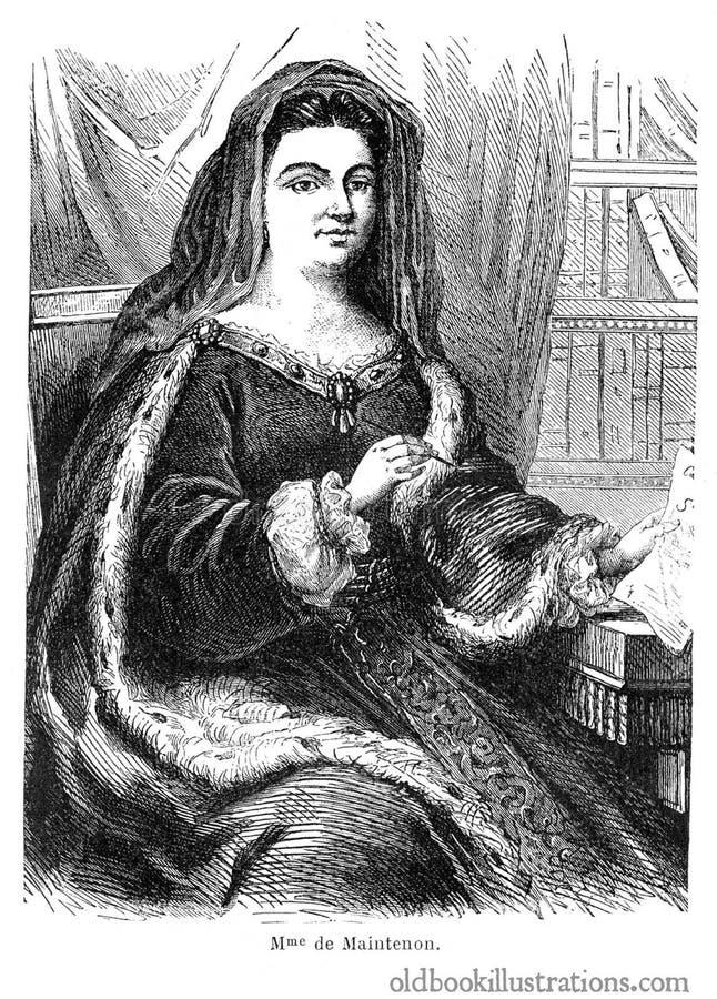 Mme. de Maintenon image stock