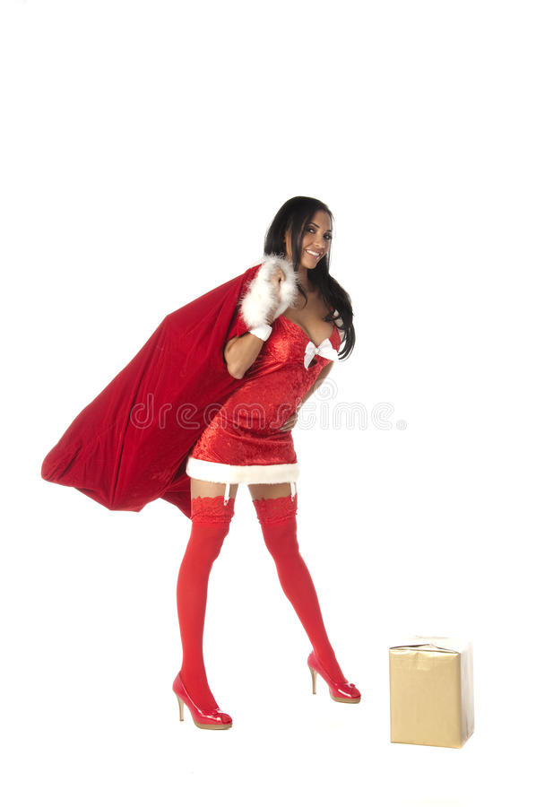 Mme sexy Santa image stock