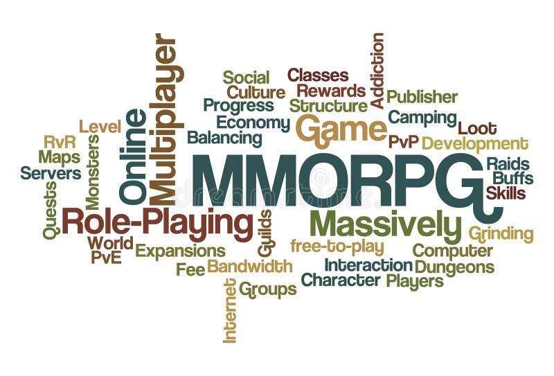 MMORPG - Massiv MultispieleronlineRole-Playing stock abbildung