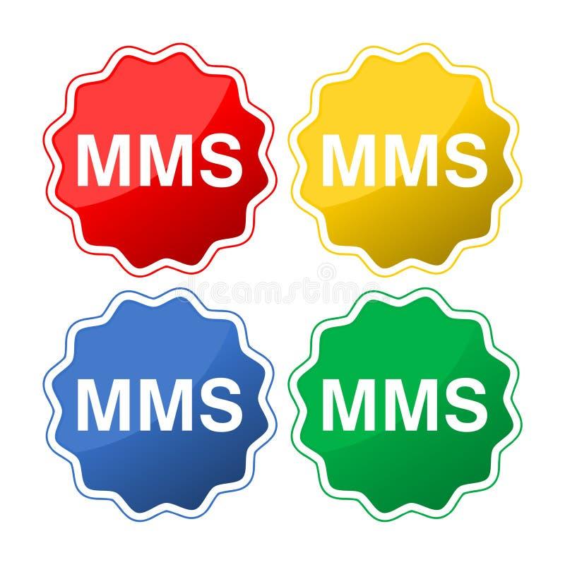 Mms-Ikonenknopf vektor abbildung