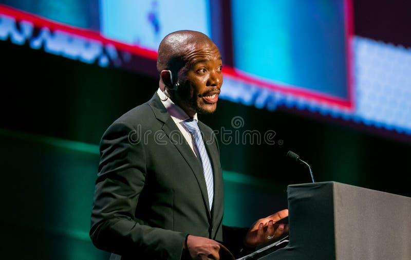 Mmusi Maimane ο ηγέτης της δημοκρατικής συμμαχίας DA στοκ φωτογραφίες