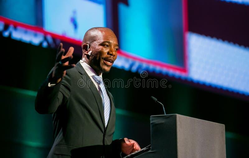 Mmusi Maimane ledaren av DAEN demokratiska Alliance royaltyfri bild