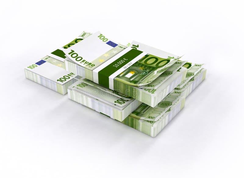 Mnóstwo pieniądze na białym stole obrazy stock