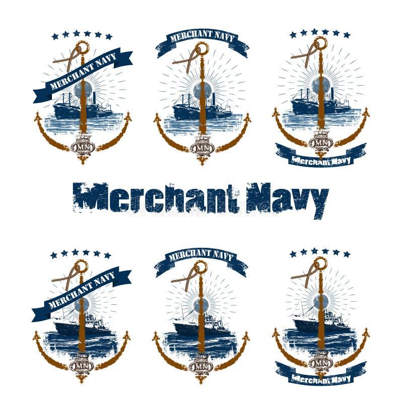 Mn_anchor_label_set stock de ilustración