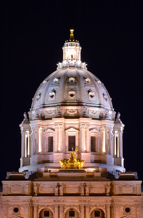 Download MN State Capitol stock photo. Image of lights, glow, night - 203908