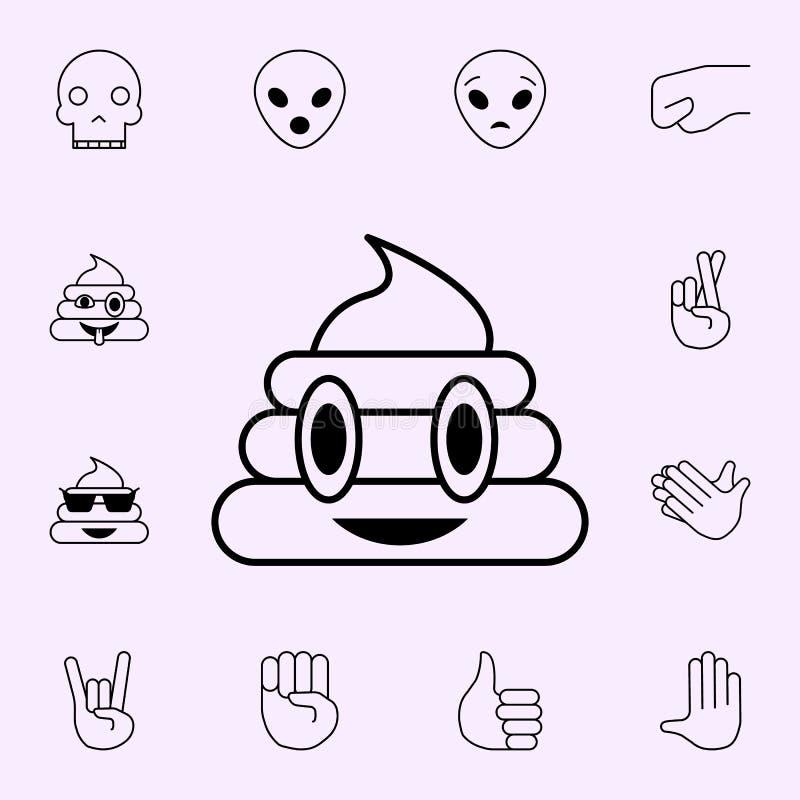mn?stwo g?wno ikona Emoji ikon og?lnoludzki ustawiaj?cy dla sieci i wisz?cej ozdoby ilustracja wektor