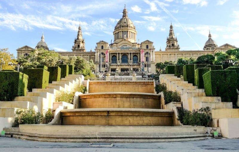 MNAC,加泰罗尼亚的全国美术馆 Montjuïc,巴塞罗那 免版税库存照片