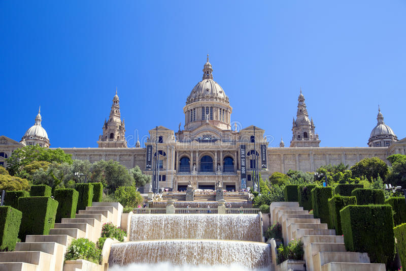 MNAC στη Βαρκελώνη, Ισπανία στοκ εικόνα με δικαίωμα ελεύθερης χρήσης