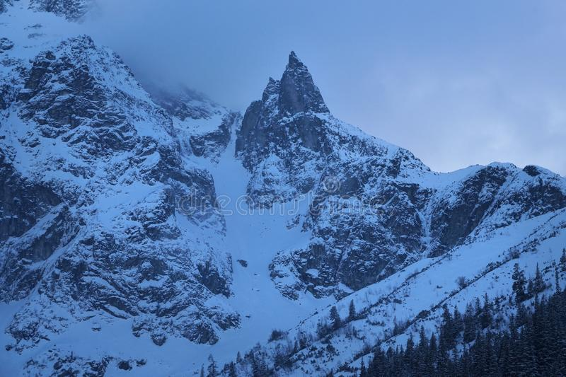 Mnich berg, Tatry royaltyfria bilder