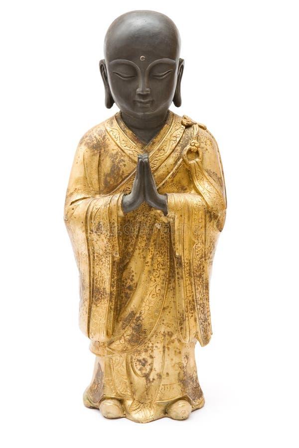 mnich posąg modlenie fotografia stock