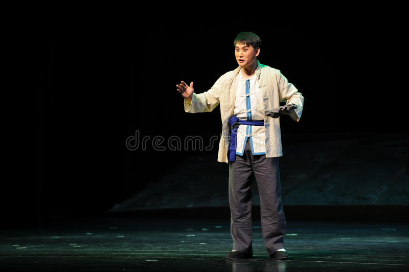 Mniejszość etniczna mężczyzna Jiangxi opera bezmian obraz royalty free