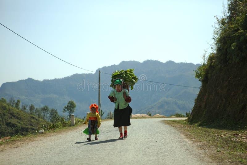 Mniejszości etnicznej córka i mama obraz stock
