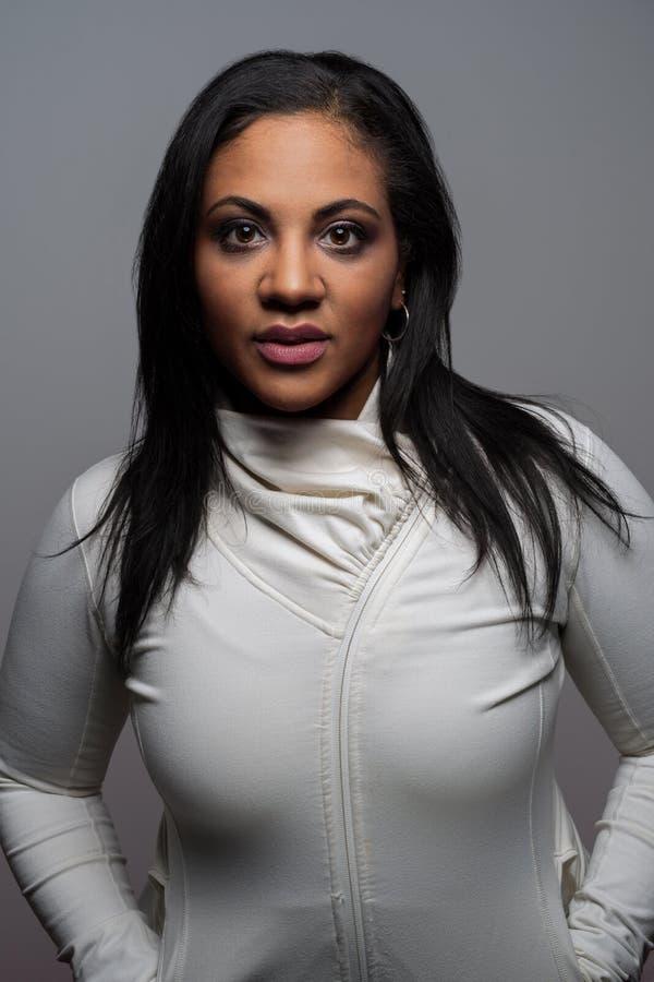 Mniejszościowy kobieta portret fotografia stock