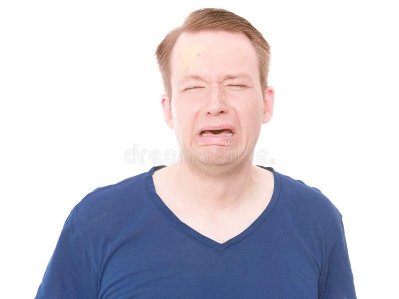 Mniejszościowy obrażenie głowy (płacz wersja) zdjęcie stock