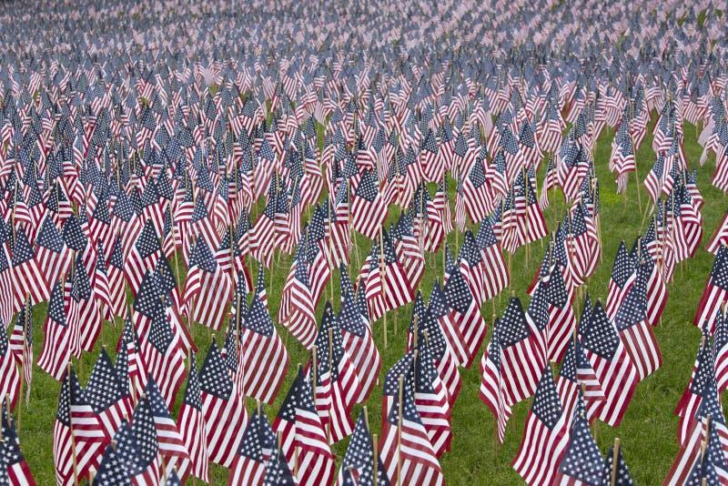 Mnogie pamiątkowe USA flaga obraz royalty free