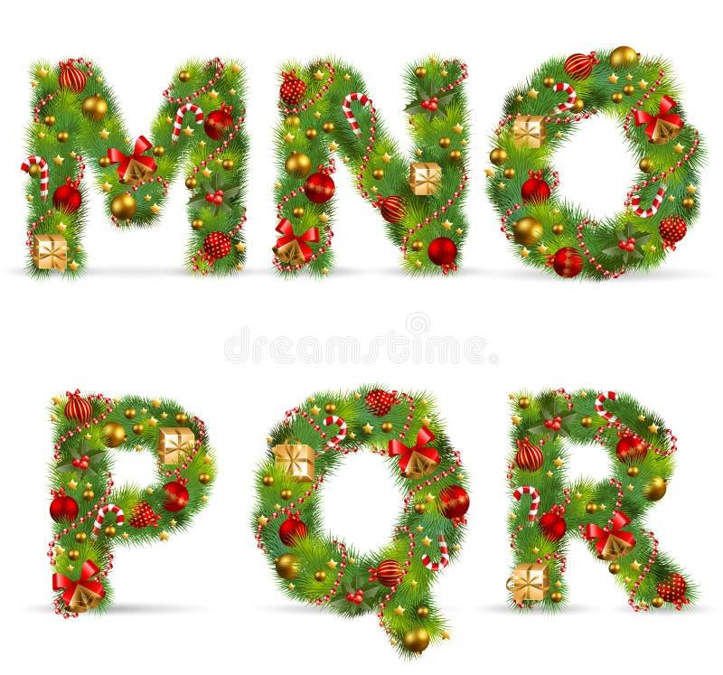 Free MNOPQR, Christmas Tree Font Stock Photos - 17325723