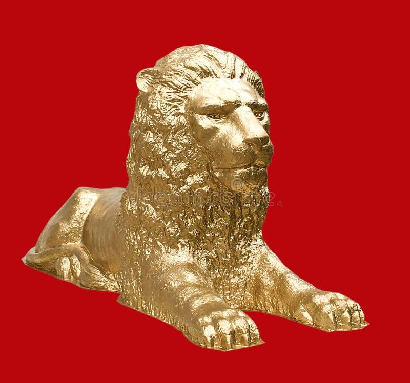 Można, majestatyczna, straszna rzeźba lew, zdjęcie royalty free
