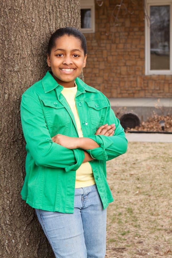 Moça afro-americano feliz imagens de stock