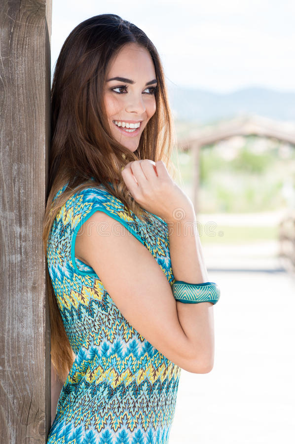 Moça de sorriso feliz fotos de stock royalty free