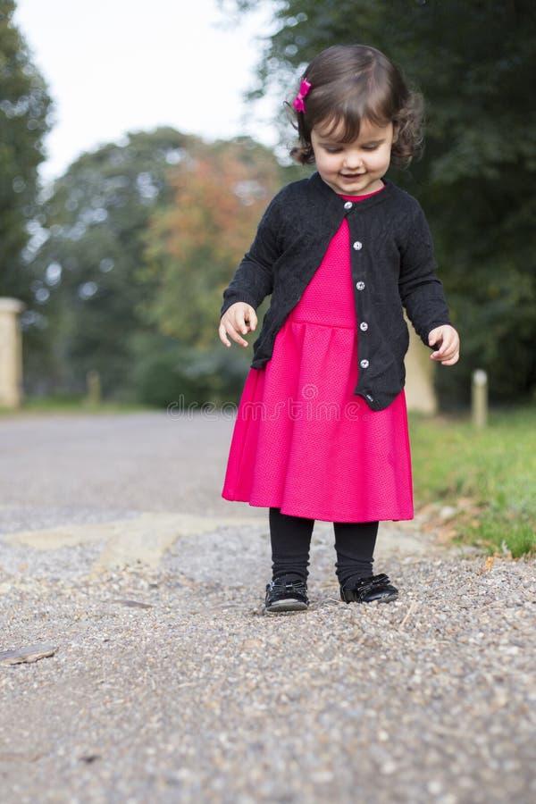 Moça no vestido bonito fotografia de stock