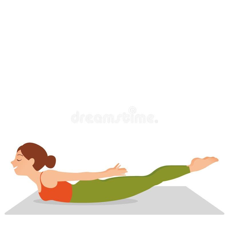 Moça que faz, ioga ilustração do vetor
