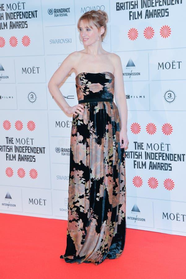 Moët British Independent Film Awards 2014. LONDON, ENGLAND - DECEMBER 07: Anne-Marie Duff attends the Moet British Independent Film Awards 2014 at Old stock photography