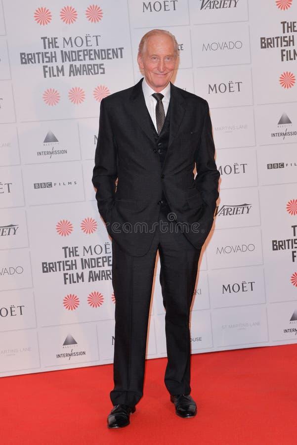 Moët British Independent Film Awards 2014. LONDON, ENGLAND - DECEMBER 07: Charles Dance attends the Moet British Independent Film Awards 2014 at Old royalty free stock photography
