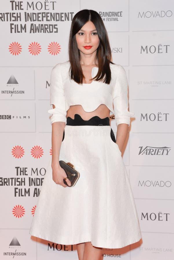 Moët British Independent Film Awards 2014. LONDON, ENGLAND - DECEMBER 07: Gemma Chan attends the Moet British Independent Film Awards 2014 at Old Billingsgate stock photos