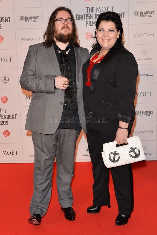 Moët British Independent Film Awards 2014. LONDON, ENGLAND - DECEMBER 07: Iain Forsyth; Jane Pollard attends the Moet British Independent Film Awards 2014 at royalty free stock photography