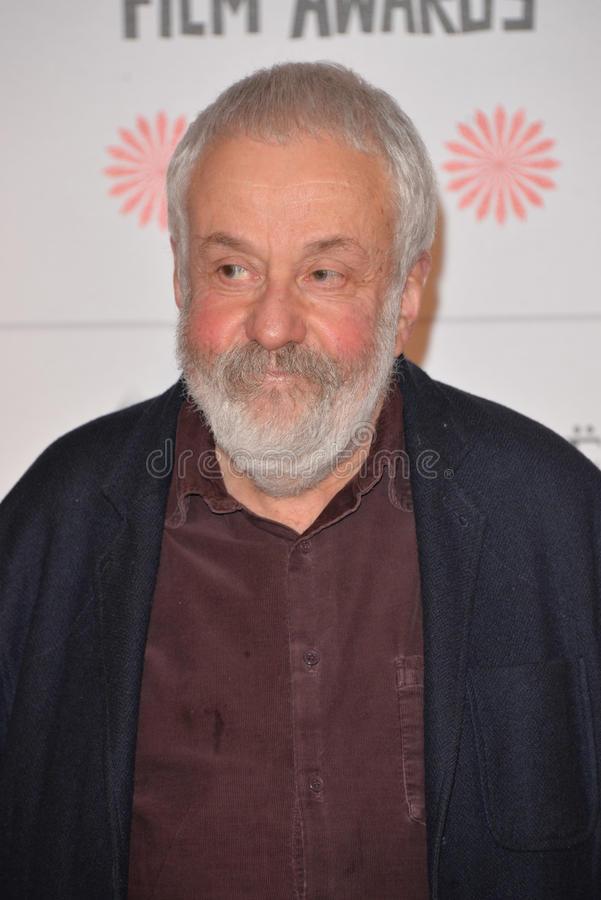 Moët British Independent Film Awards 2014. LONDON, ENGLAND - DECEMBER 07: Mike Leigh attends the Moet British Independent Film Awards 2014 at Old Billingsgate stock photos