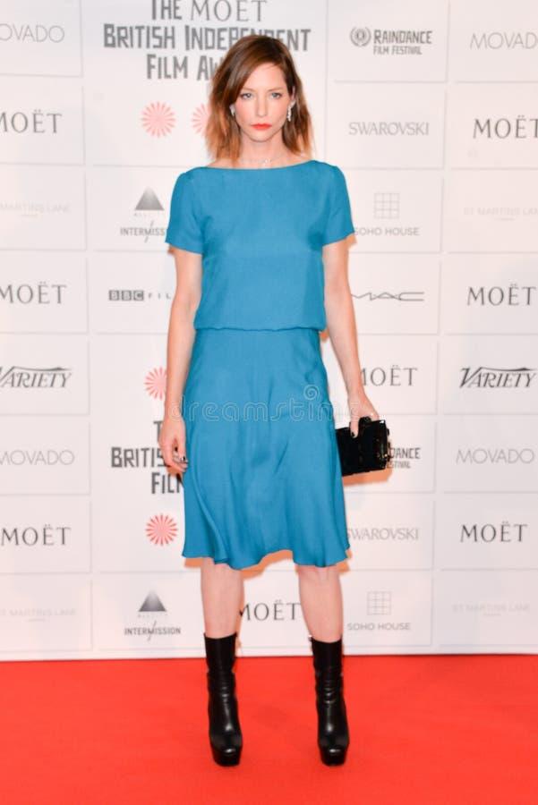 Moët British Independent Film Awards 2014. LONDON, ENGLAND - DECEMBER 07: Sienna Guillory attends the Moet British Independent Film Awards 2014 at Old royalty free stock image