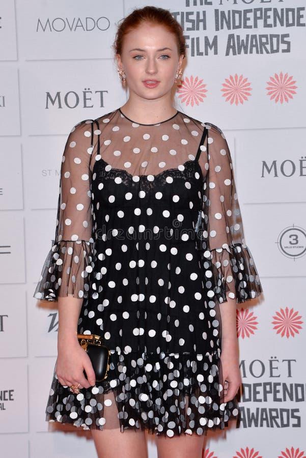 Moët British Independent Film Awards 2014. LONDON, ENGLAND - DECEMBER 07: Sophie Turner attends the Moet British Independent Film Awards 2014 at Old stock images