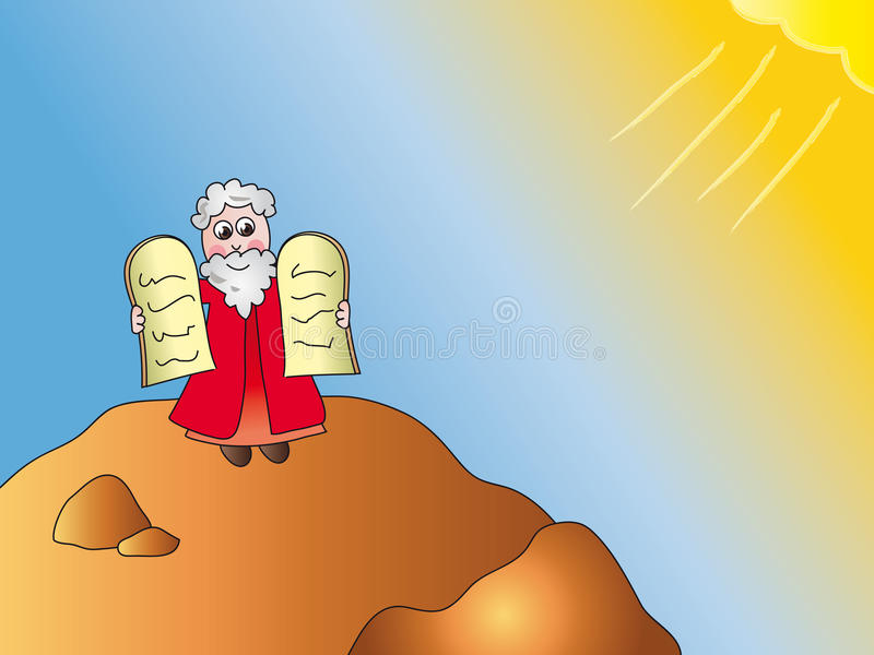 Moïse illustration stock