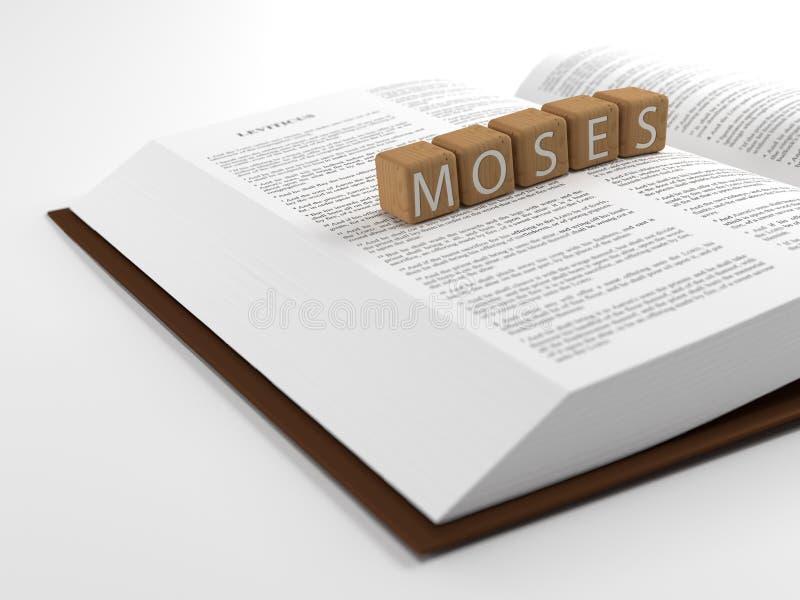 Moïse et la bible illustration de vecteur