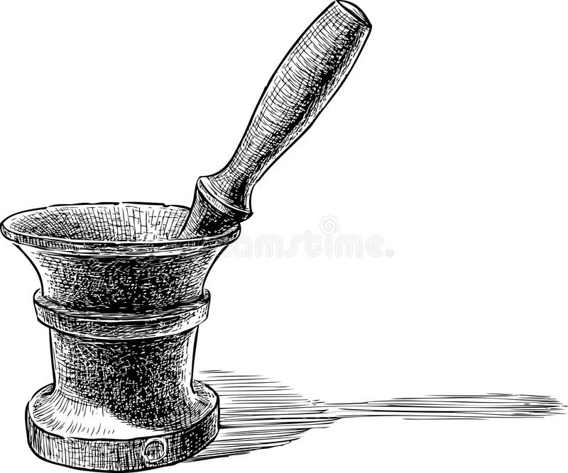 moździerz ilustracji