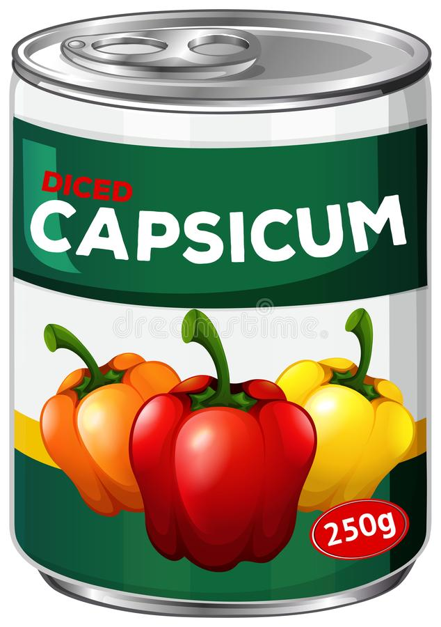 Może diced capsicum ilustracja wektor