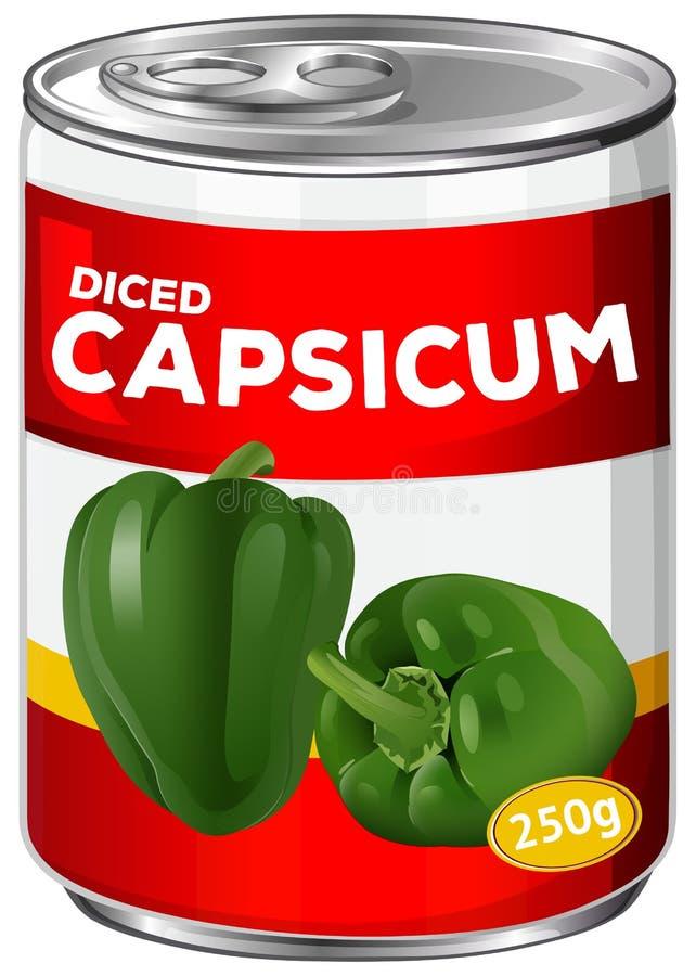 Może diced capsicum royalty ilustracja
