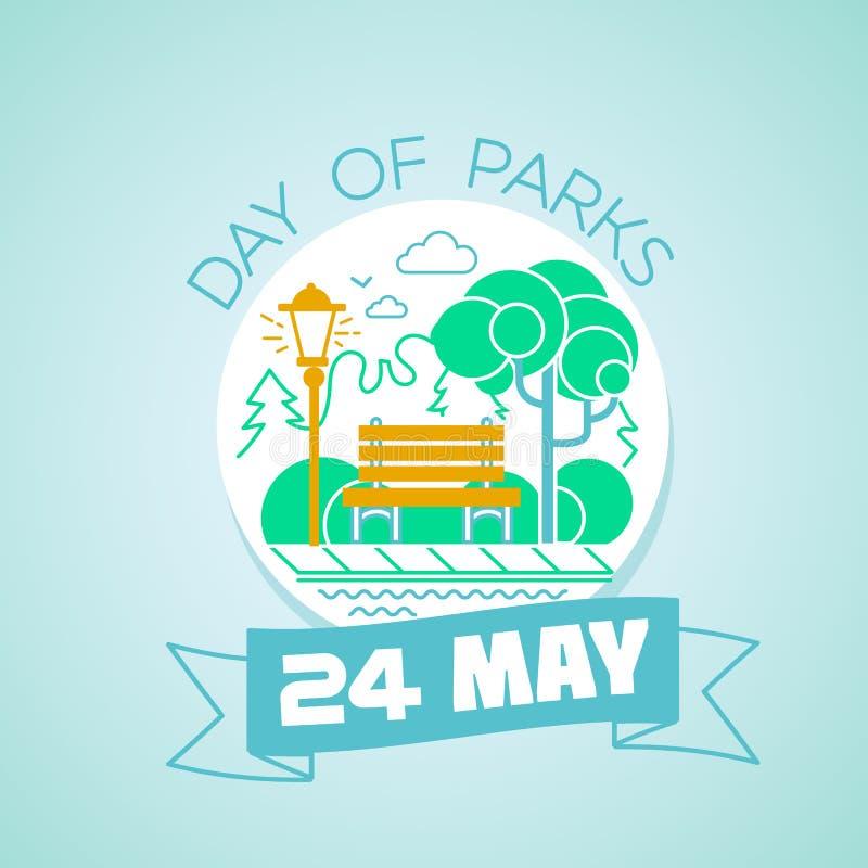 24 może dzień parki royalty ilustracja