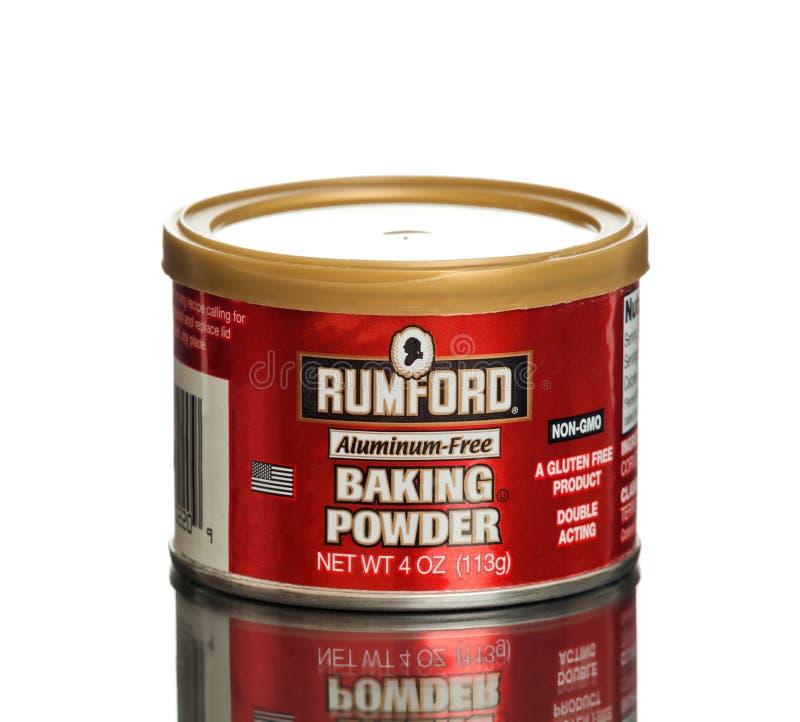 Może Rumford Wypiekowego proszka Bezpłatny gluten swobodnie zdjęcie stock