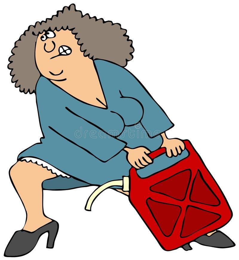 Może Target2275_0_ Ciągnięcie Ciężkiej Kobiety Obraz Stock