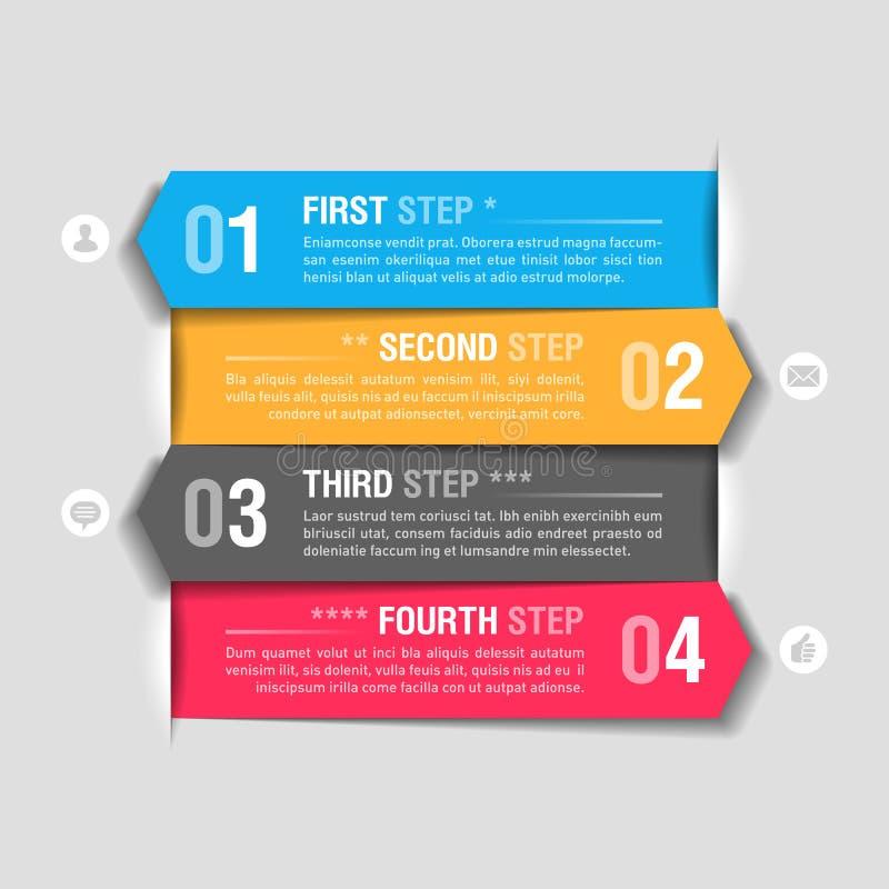 Infographics projekta szablon royalty ilustracja