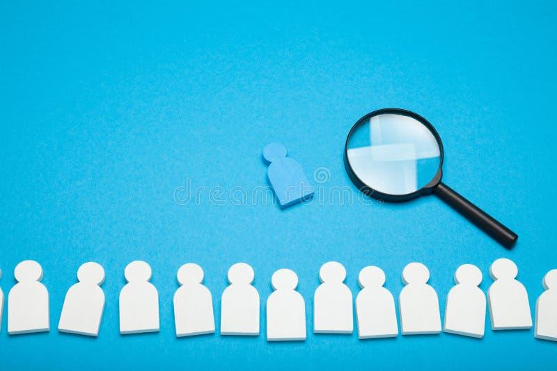 Możliwość wyszukiwania stanowisk, agencja rekrutacyjna. Zatrudnianie zasobów ludzkich, analiza społeczna fotografia stock