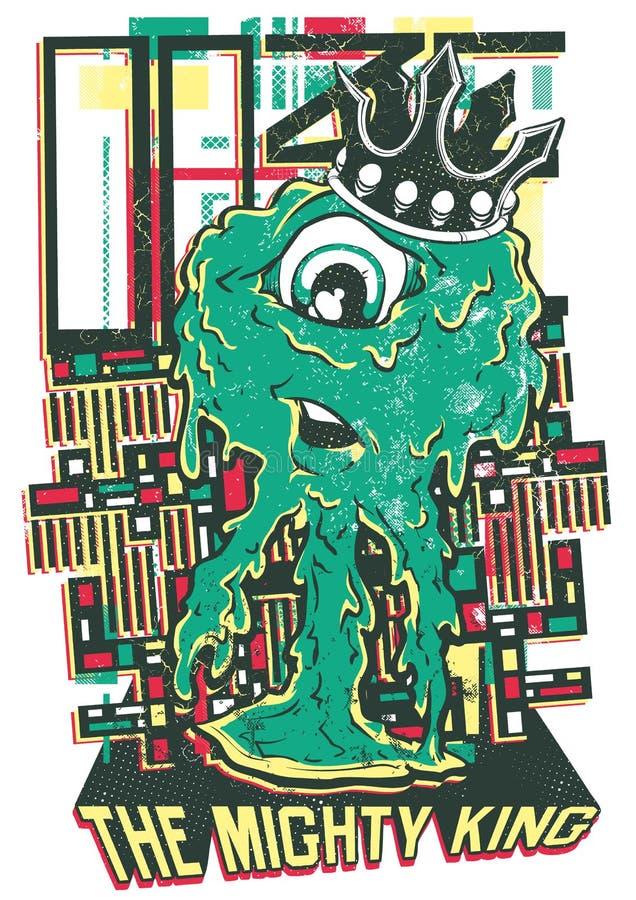 Możny królewiątko royalty ilustracja