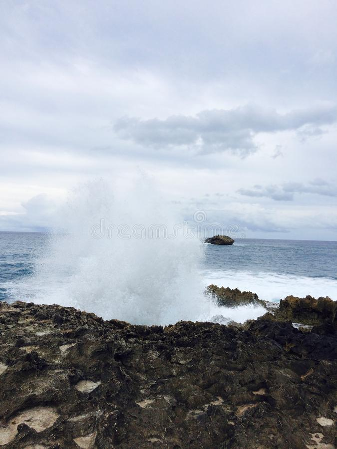 Możny ocean fotografia stock