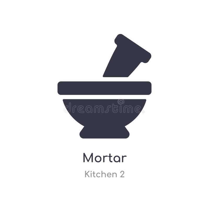 mo?dzierzowa ikona odosobnionej moździerzowej ikony wektorowa ilustracja od kuchni 2 kolekcji editable ?piewa symbol mo?e by? u?y ilustracja wektor