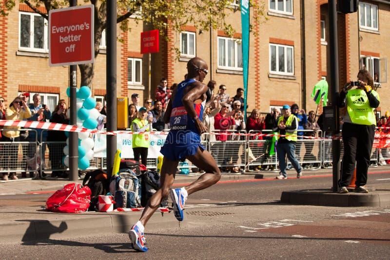 Mo Farah maraton obrazy royalty free