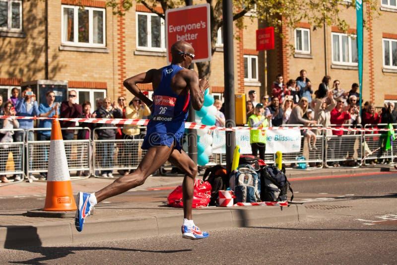 Mo Farah Running fotografía de archivo