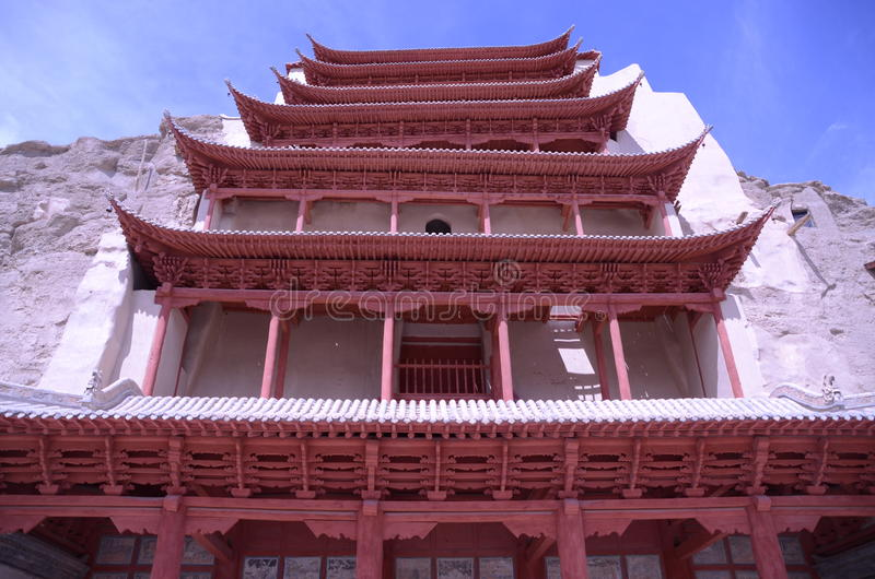 Mo Gao grota Dunhuang Chiny zdjęcie stock