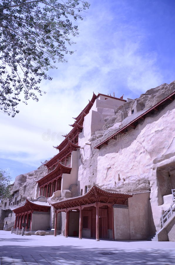 Mo Gao grota Dunhuang Chiny zdjęcia royalty free