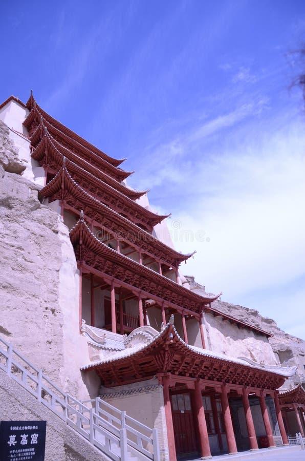 Mo Gao grota Dunhuang Chiny obraz royalty free